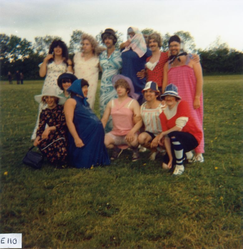 June 7 1977 Silver Jubilee - 2nd left front: Rodney Benfield, 2nd right front: Alan Stewart.