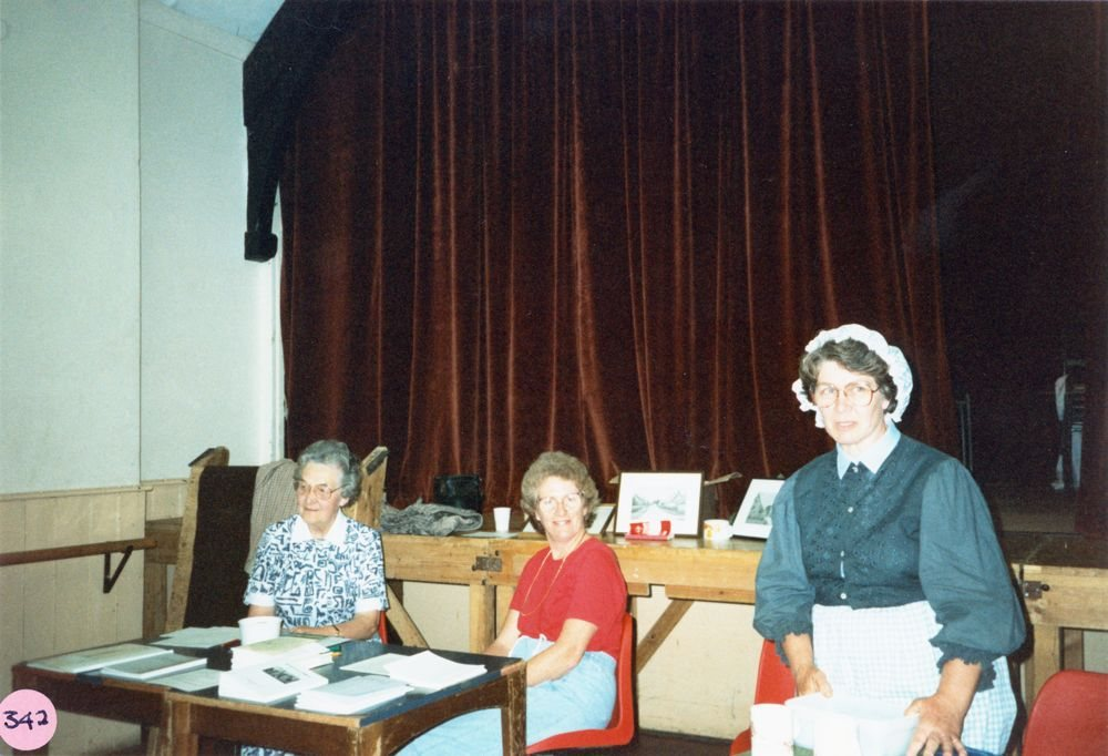 July 9 1988 Alice Marshall Hall Centenary. Pip Phipps, Ann Horwood and Margaret Stewart.