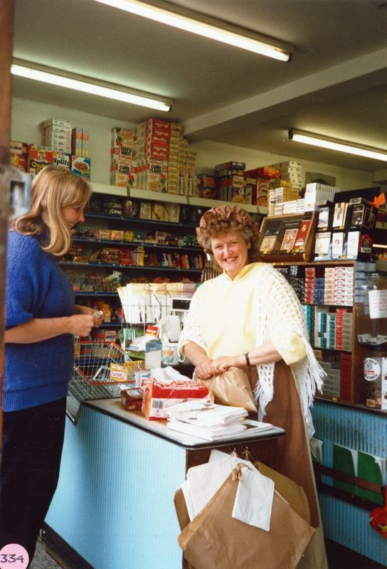 July 9 1988 Ann Wilcox and Carol Stewart at Webbs stores.