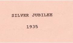 1935 Silver Jubilee.