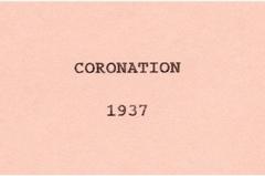 1937 Coronation.