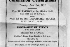June 2 1953 The Bartons Coronation Celebrations.
