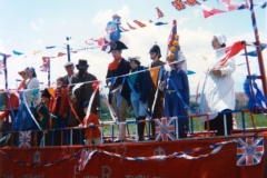 June 7 1977 Floats in the Silver Jubilee procession. The procession started from Jack Irons' field at the north end of the village.