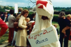 June 7 1977 Floats in the Silver Jubilee procession. Mrs. Ann Ryan foreground left.