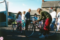1987 Sponsored Bicycle Ride in aid of the School and the Playgroup.