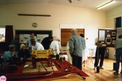 July 9 1988 Middle Barton Primary School Exhibition. Mr. Ken Castle and his model wagon.