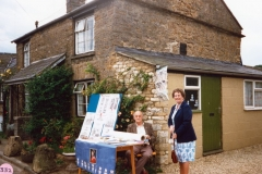 July 9 1988 Mr. Tom Cattle and Mrs. Jess Newman, 15 Worton Road, British Legion stall.