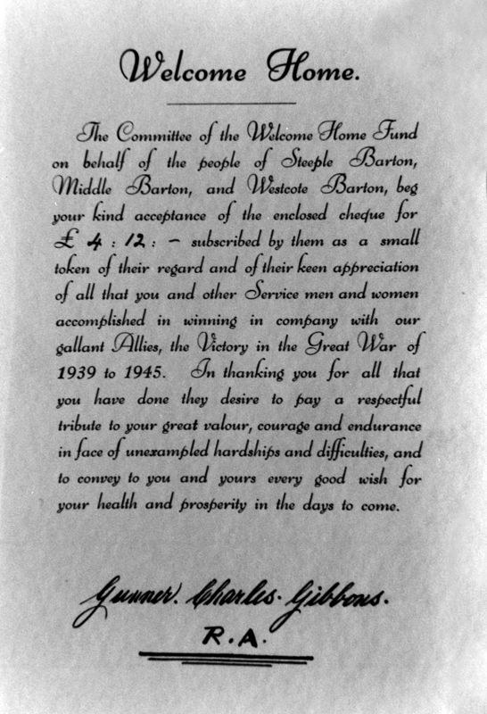 WW II Gunner Charles Gibbons - Welcome Home.