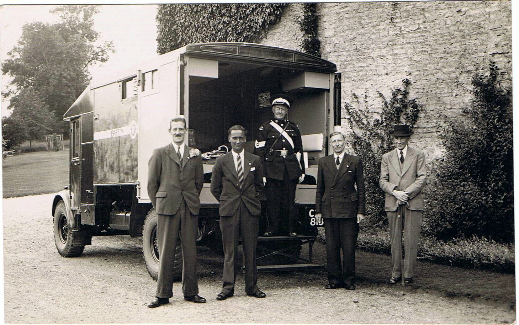 WW II - St. John's ambulance at Church Farm