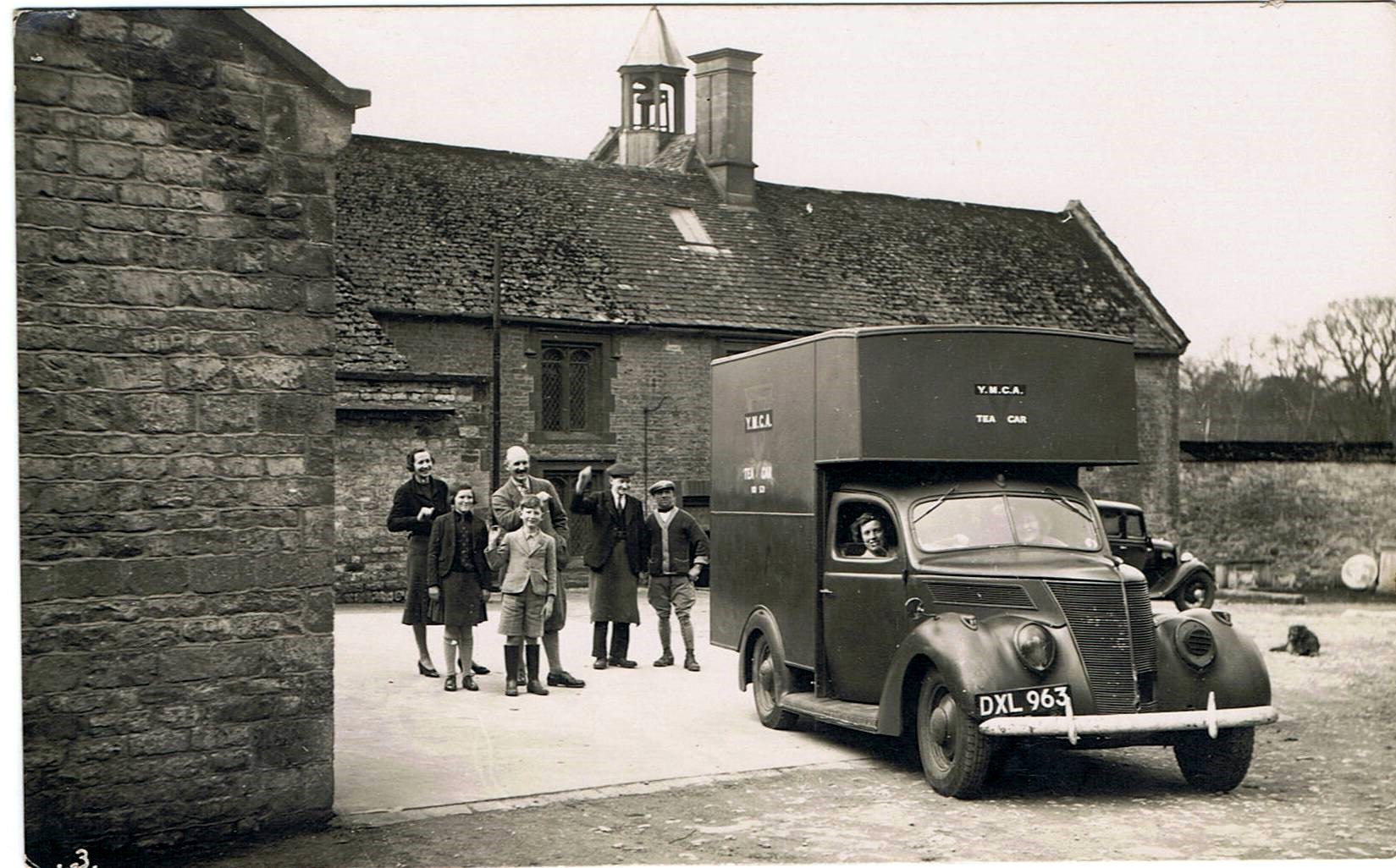 WW II - Barton Abbey stable yard - YMCA canteen.