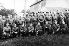 1941. The Home Guard on the bank outside 1 North Street. Photo taken soon after the Guard had been issued with proper uniforms.