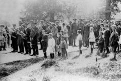 1918 Celebrating the end of World War I.