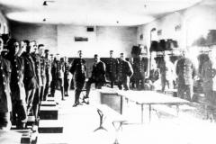 WW I. Barracks in Ireland. Left foreground George H. Kirkby.