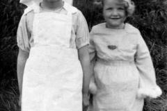 Brenda Monk nee (White) and Joan Byford.