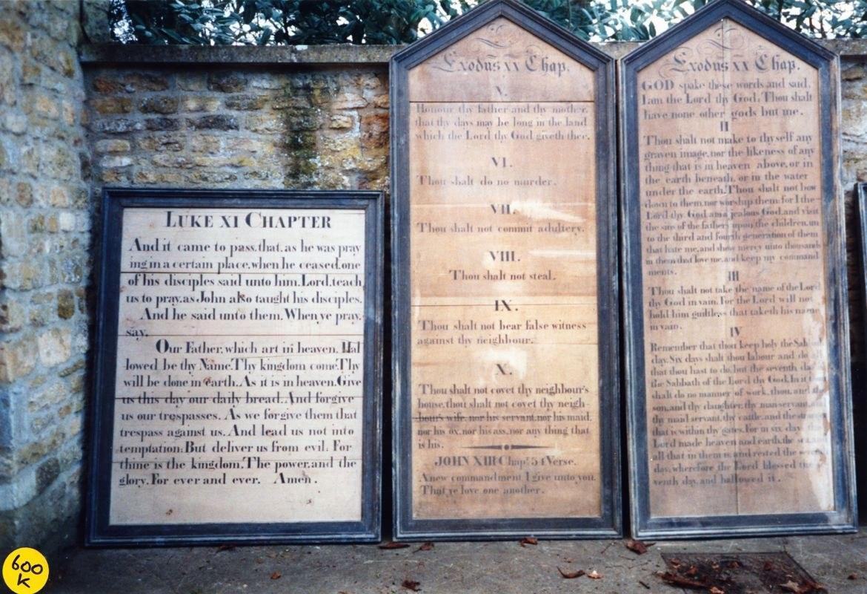 Westcote Barton church boards.