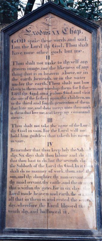 Westcote Barton church boards - The Commandments.