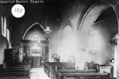 c. 1920 The chancel and nave had Staffordshire floor tiles which were put in when the Church was restored in 1856.