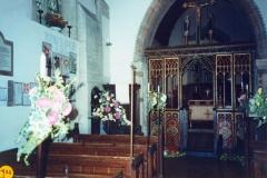 September 1989 Harvest and Flower festival.