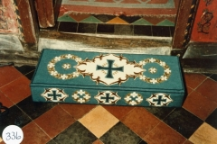 1976 The wedding kneeler on the occasion of the marriage of Sarah Pratley and John Pinion.