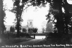 The church from the old rectory drive.