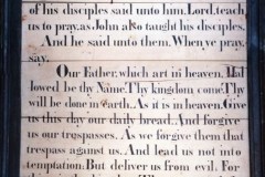 Westcote Barton church boards - Lord's prayer.