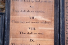 Westcote Barton church boards - The Commandments.