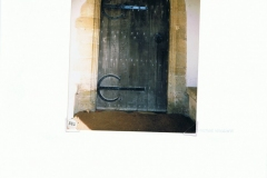 December 1985 Westcote Barton Church. Church door.