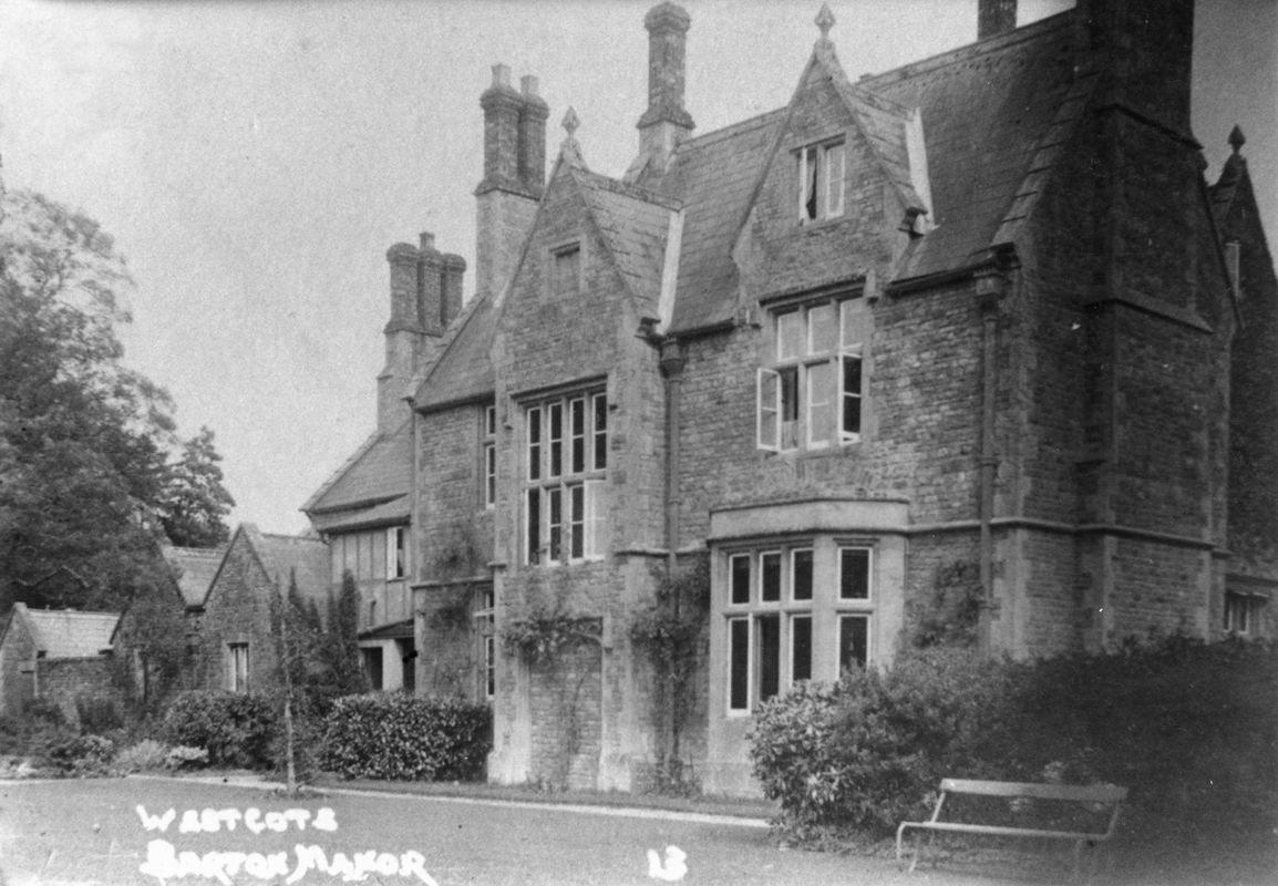 1920s Westcote Barton Manor, back.
