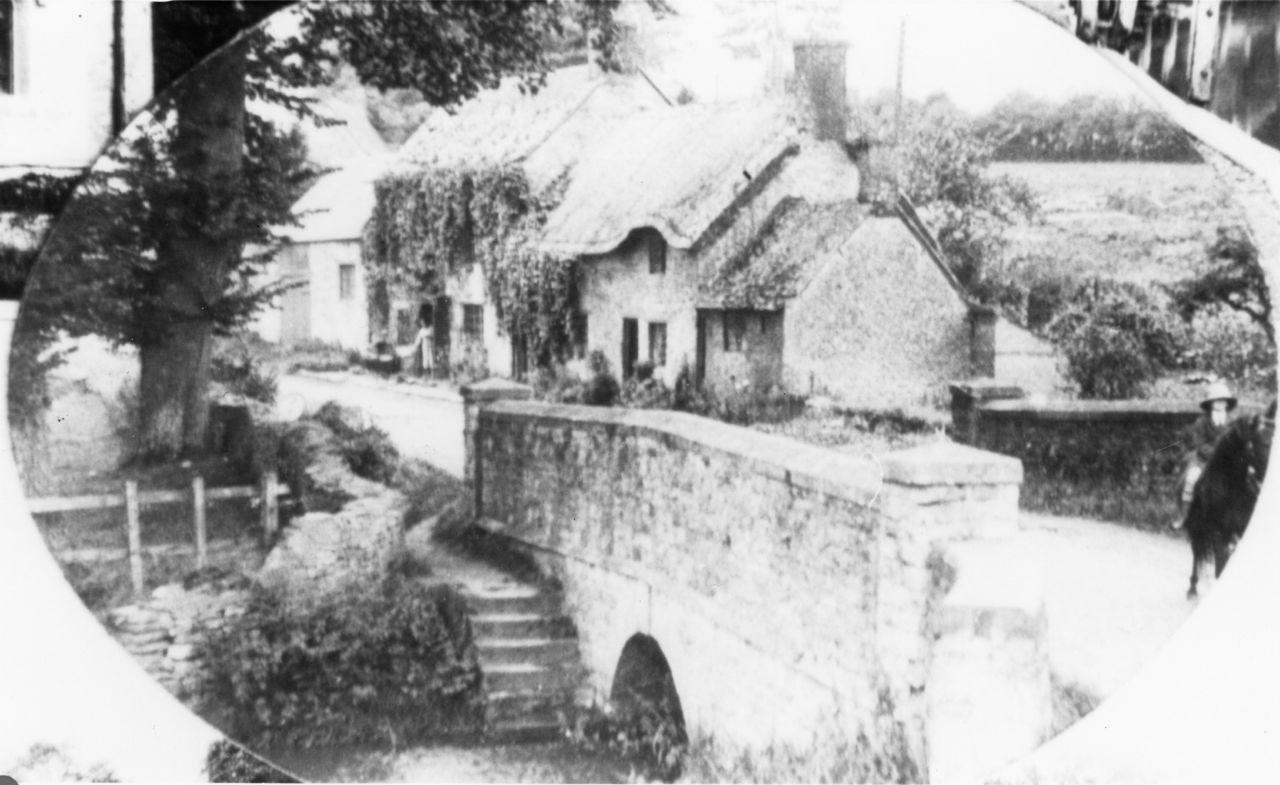 Around 1930. Enstone Road bridge. Showing Burnside and Hennock House.