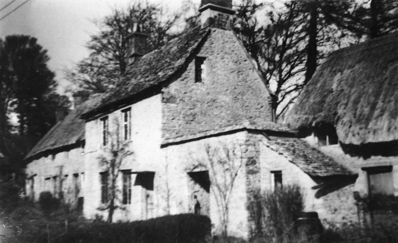 1920s Manor Farm cottages, back view.