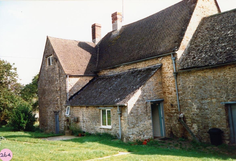 October 1987 Manor Farm Westcote Barton, rear view.