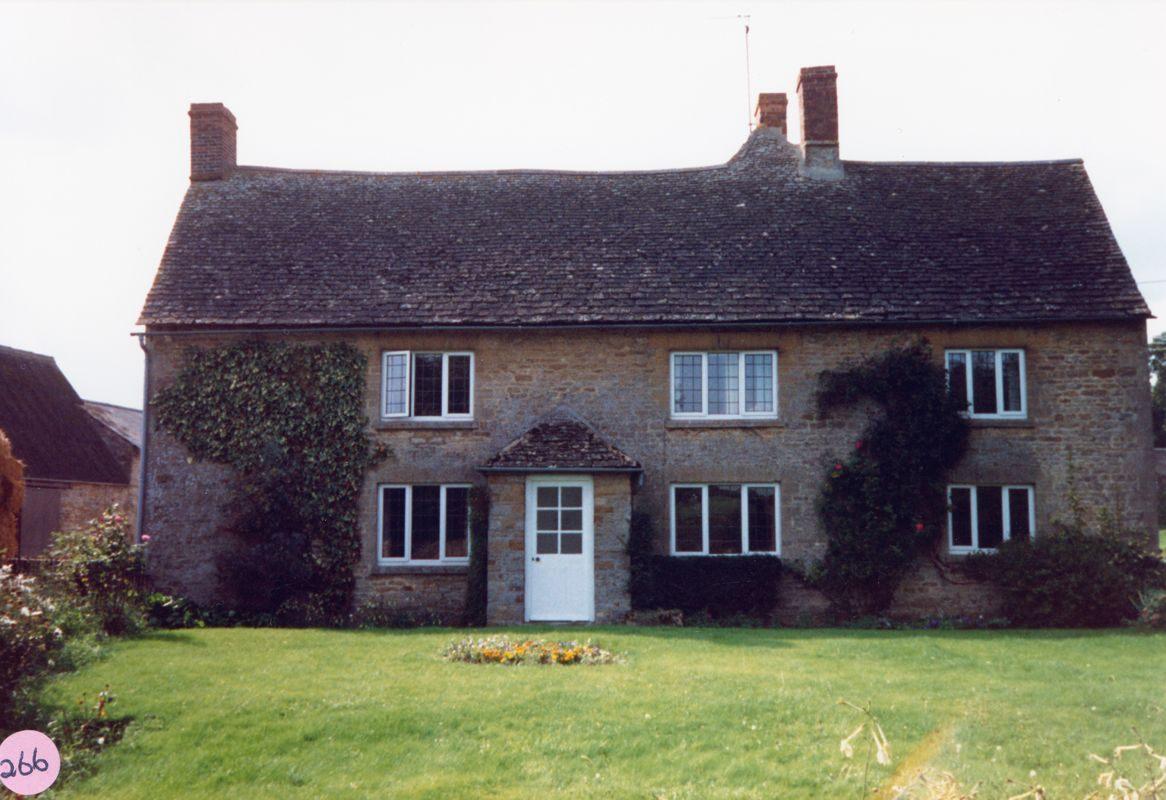 October 1987 Manor Farm Westcote Barton, front view.