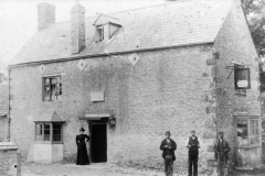 """c. 1898 Mark Stockford Senior (""""Bubbles"""" Pratley's granfather) was the licensee between 1895 and 1899 - his wife was standing by the door in this photograph."""