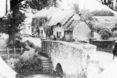 Around 1930. Enstone Road bridge. Showing Burnside and Hennock House.
